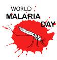 world malaria day card vector image