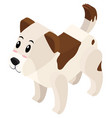 3d design for pet dog vector image