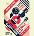 acoustic guitar music event post vector image vector image
