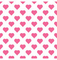 beautiful seamless pattern with pink hearts vector image vector image