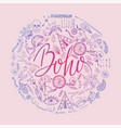 boho hand drawn round pattern vector image vector image