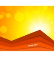Bright orange background vector image vector image