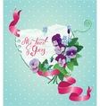 card flower 2 380 vector image vector image