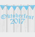 card with flags for oktoberfest holiday vector image vector image
