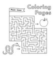 cartoon snake maze game vector image vector image