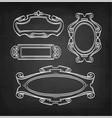 chalk sketch of vintage frames vector image vector image