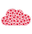 cloud shape of confetti star icons vector image vector image