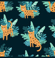 complex jungle pattern vector image vector image