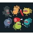 Cute food monsters vector image