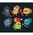 Cute food monsters vector image vector image