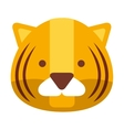 cute tiger isolated icon design vector image