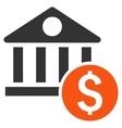 Dollar Bank Flat Icon vector image vector image