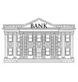 drawing classic bank building as finance