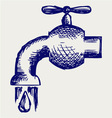 Dripping tap with drop vector | Price: 1 Credit (USD $1)