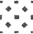 drum and drumsticks pattern seamless black vector image vector image