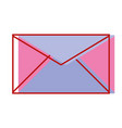 e-mail letter message style design vector image vector image