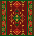 ethnic seamless pattern with geometric ornament vector image vector image