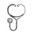 figure medical stethoscope to check cardiac vector image vector image