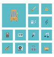 flat icons tape turntable mp3 player and other vector image vector image
