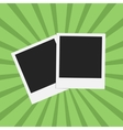 Flat photo frame web icon vector image