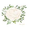 floral bouquet design garden white ranunculus vector image vector image