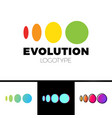 four symbol from elipse to circle logo evolution vector image