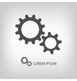 Gear wheels as logo vector image vector image