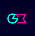 gx g x blue pink colorful alphabet alphabet vector image vector image