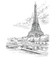 hand drawing paris 3 vector image vector image