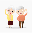 happy old man and old woman concept vector image