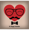 hipster heart vector image vector image