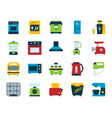 kitchen appliance simple flat icons set vector image