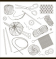 knitting and crochet set vector image