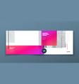 landscape brochure design pink and magenta vector image vector image
