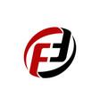 letter pf fd ff modern vector image vector image