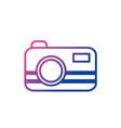 line digital camera technology equipment object vector image