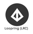 loopring lrc crypto coin i vector image vector image