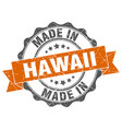 made in hawaii round seal vector image vector image