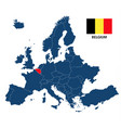 map of europe with highlighted belgium vector image vector image
