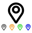map pointer stroke icon vector image