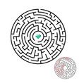 maze labyrinth with diamond in flat style vector image