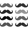 mustaches pattern collections vector image vector image