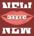new york brooklyn sport wear typography emblem t vector image vector image