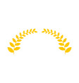 olive branch is golden wreath symbol of victory vector image