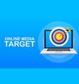 online media target audience digital marketing vector image