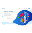 online shopping sale consumerism and online vector image vector image