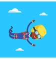 Parachutist jumping with parachute vector image