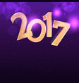 purple background with golden 2017 text effect vector image vector image