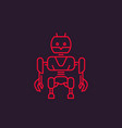 robot linear style vector image vector image