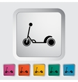 Scooter child flat icon vector image vector image
